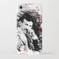 tesla iPhone & iPod Cases featuring Nikola Tesla by viva la revolucion