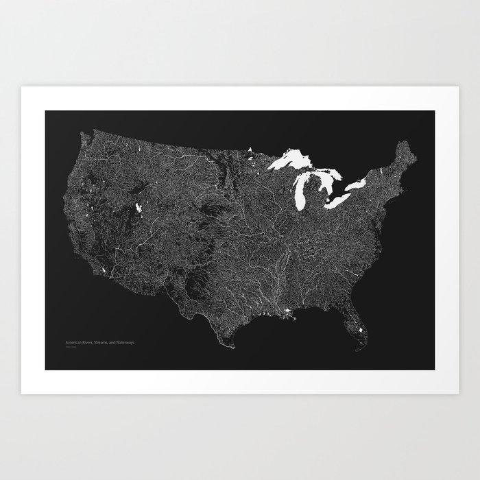 American Rivers, Streams, and Waterways Art Print