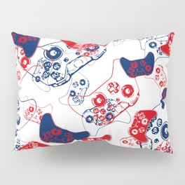 Video Game Red White & Blue 3 Pillow Sham