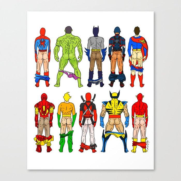 Superhero Butts Leinwanddruck