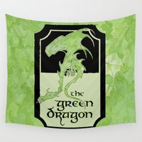 lotr Wall Tapestries featuring The Green Dragon  by Renatta Maniski-Luke