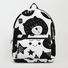 Black and White Animals Backpack