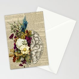 medical floral brain Stationery Cards
