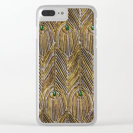 Lady Curzon's Peacock dress Clear iPhone Case