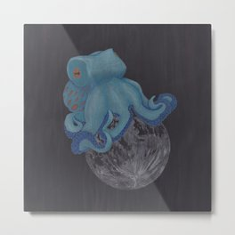 The Octopus Moon - in color Metal Print