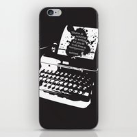hemingway iPhone & iPod Skins featuring Ernest Hemingway Quote by People Matter Creative