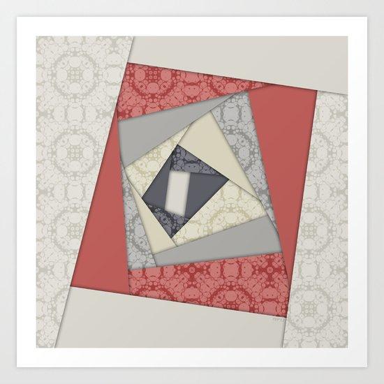 Abstract Geometric Rotation Art Print