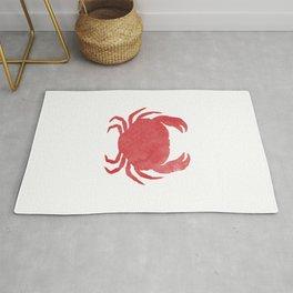 Watercolor Crab Rug