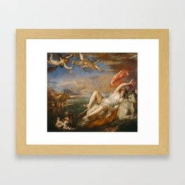 The Rape of Europa (Titian) Framed Art Print