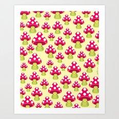 Honguitos Art Print