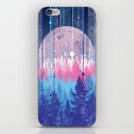 Rainy forest iPhone Skin