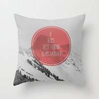 best friend Throw Pillows featuring best friend by Jesse Robinson Williams