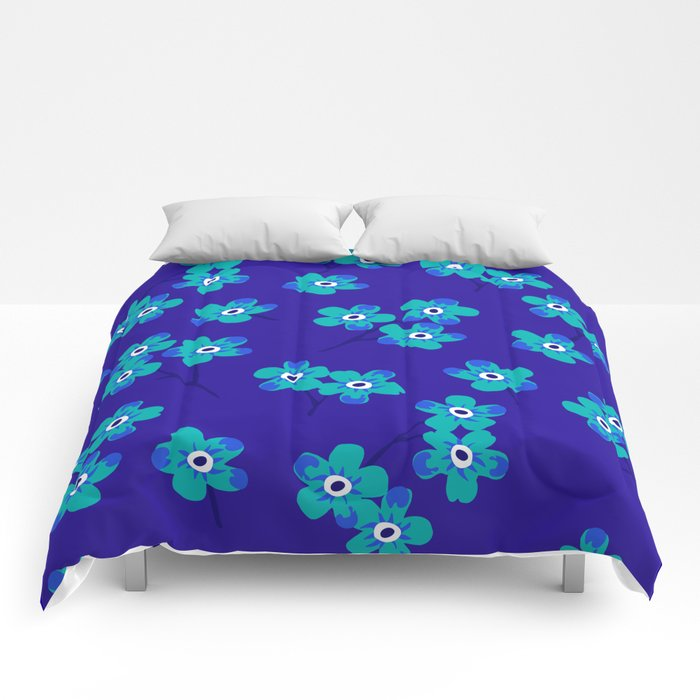 Forget-me-nots - Blue Comforters
