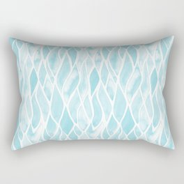 Sand Flow Pattern - Light Blue Rectangular Pillow