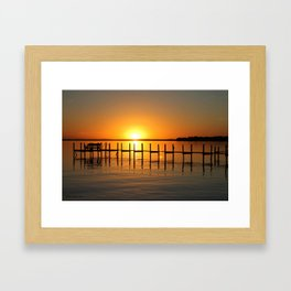 Clear Lake, Iowa Sunset Framed Art Print