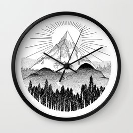 Sunset Mountain Sunrise Wall Clock