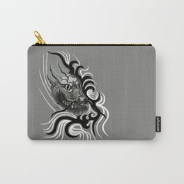 Dragon in Tattoostyle , black - white and grey Design Carry-All Pouch