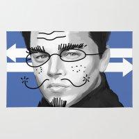 leonardo dicaprio Area & Throw Rugs featuring Leonardo DiCaprio by Pazu Cheng