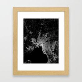 Melbourne map Australia Framed Art Print