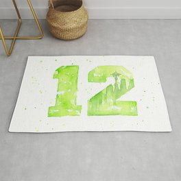 12th Man Seattle Art Rug