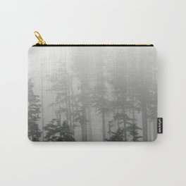 Foggy Forest Chinook Washington Grey Photography Print Misty Northwest Carry-All Pouch