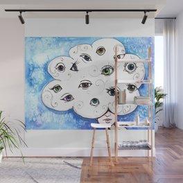 Eyes in the Cloud Wall Mural