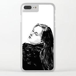 Lace Portrait T. Clear iPhone Case
