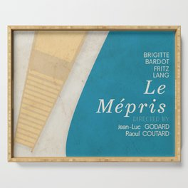 Contempt, Le Mépris, Jean-Luc Godard, Fritz Lang, Brigitte Bardot, french film, new wave, vague Serving Tray