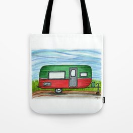 Watermelon Camper Trailer Tote Bag