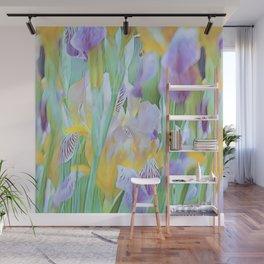 An Iris Abstract Wall Mural