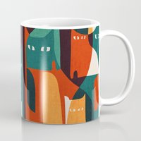 family Mugs featuring Cat Family by Picomodi