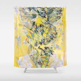 Yellow Flower Storm Shower Curtain