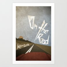 On the Road Art Print