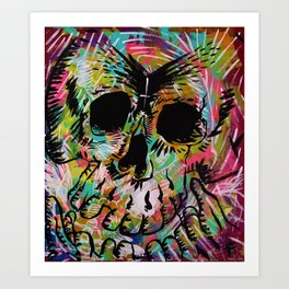 A couple of Beers and a twisted mind  Art Print