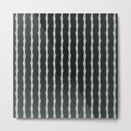 geo six looping-celadon Metal Print