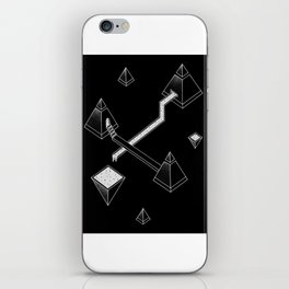 Black Space Pyramids iPhone Skin