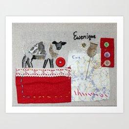 Ewenique Art Print