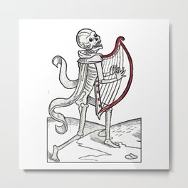 Death music Metal Print