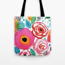 Abstract Floret Tote Bag