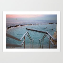 Sunset at Bronte Art Print