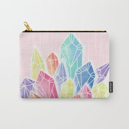 Crystals Pink Carry-All Pouch