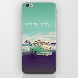 NEVER STOP EXPLORING THE BEACH iPhone Skin
