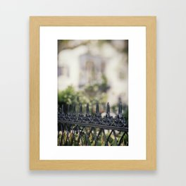 New Orleans Garden District Fence Framed Art Print