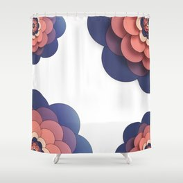 Floral // Border Shower Curtain