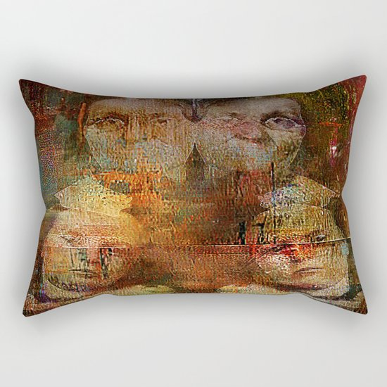 Twins intergenerational Rectangular Pillow