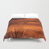 plane Duvet Covers featuring Plane by Fox Industries