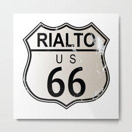 Rialto Route 66 Metal Print