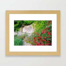Vine Barn In Brittany France Framed Art Print