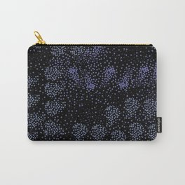 Blue circle on black Carry-All Pouch