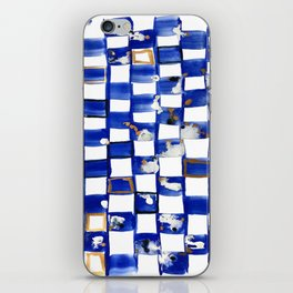 Blue and White Checks iPhone Skin